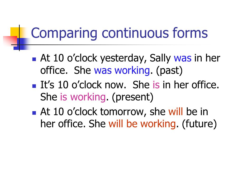 Comparing continuous forms