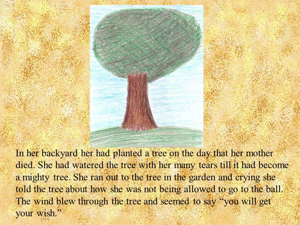 In her backyard her had planted a tree on the day that her mother died