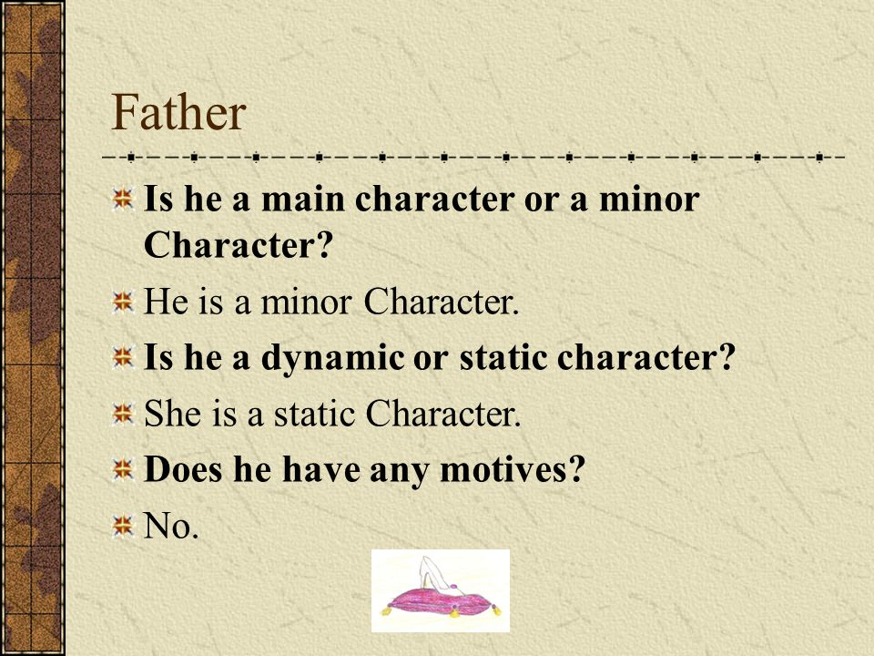 Father Is he a main character or a minor Character