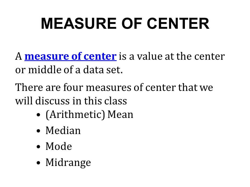 Overview and Measures of Center - ppt download