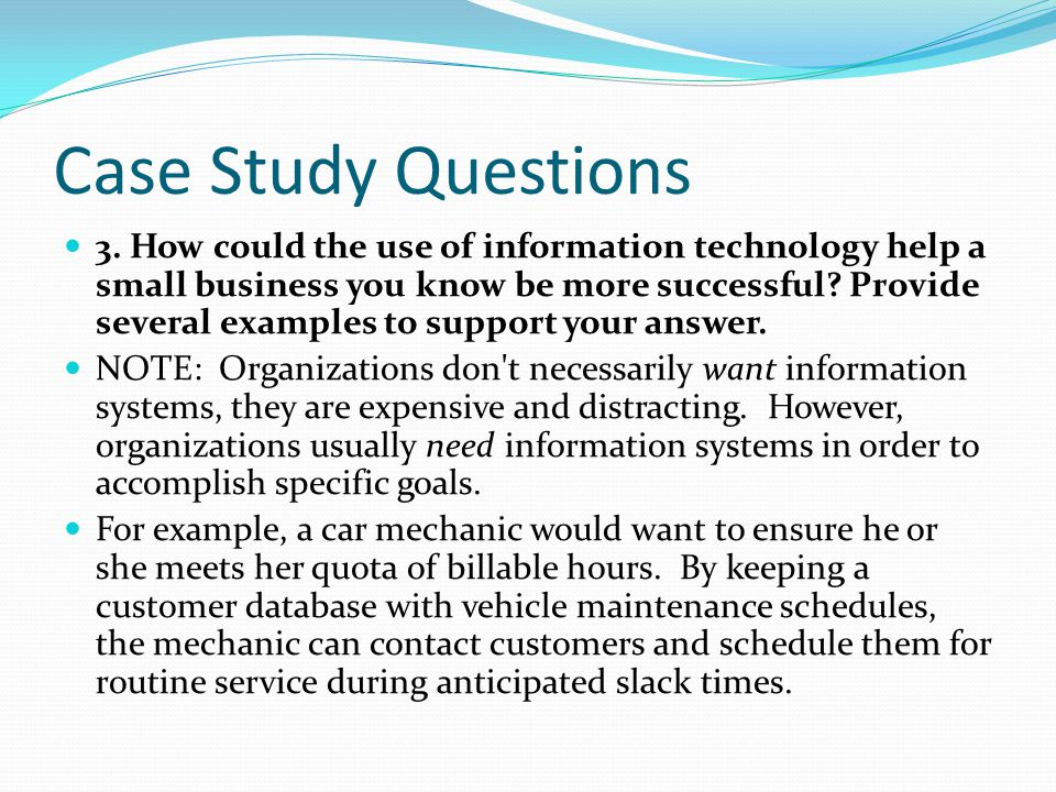 Sew what inc the role of information technology in small for Case for support template