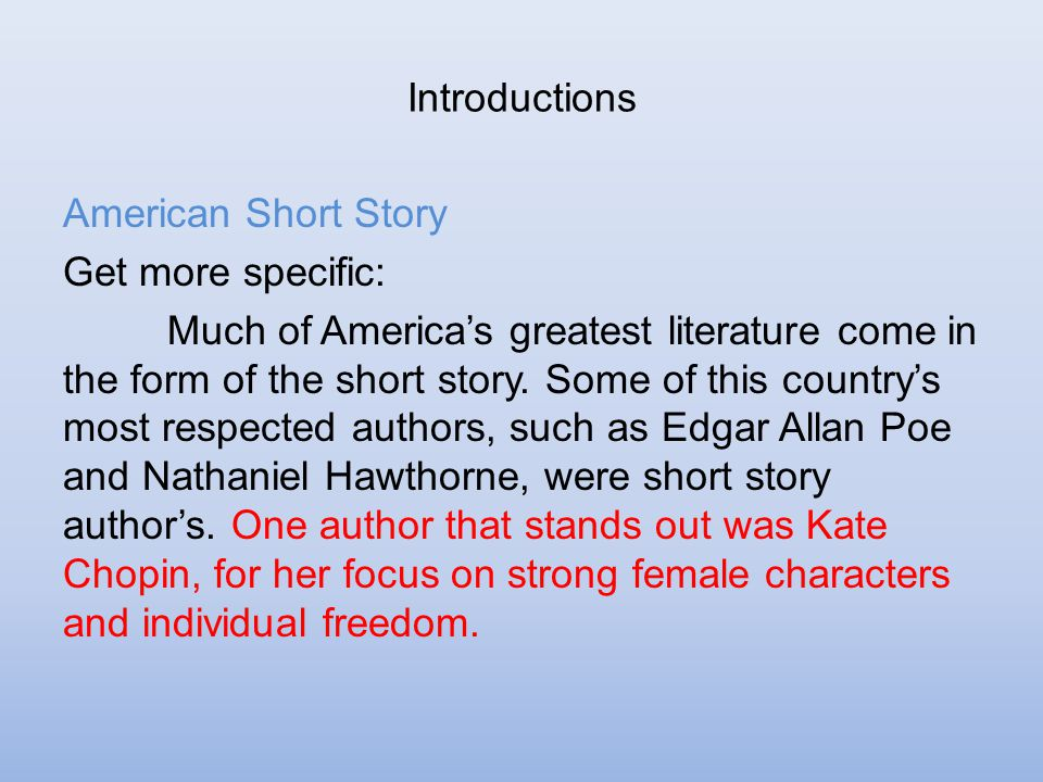 the irony of what is to come in the story of an hour by kate chopin In donald f larsson's entry on kate chopin in critical survey  it is also easy to come to the same  chopin's the story of an hour illustrates many.