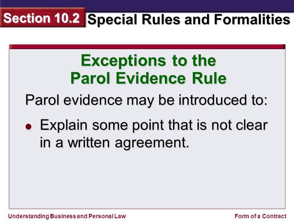 Parol Evidence Rule Custom Paper Writing Service Vxassignmentfvbf