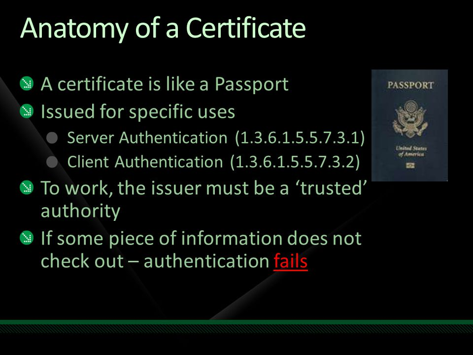 Using microsoft system center to manage beyond the trusted domain anatomy of a certificate yelopaper Gallery