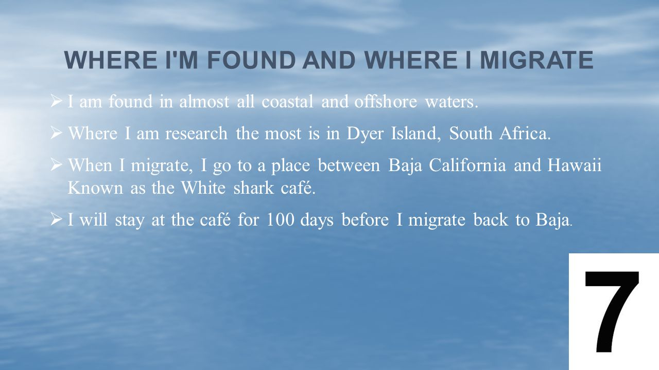 Where I m found and Where I migrate