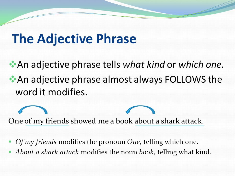 The Adjective Phrase. - ppt video online download