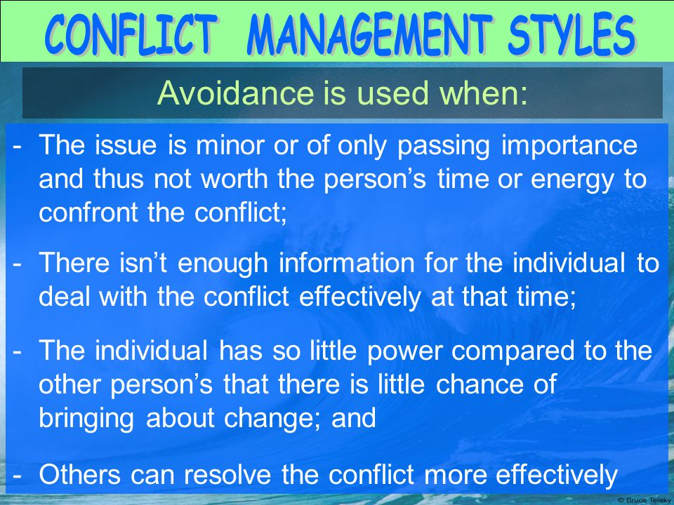 the importance of conflict That conflict is dangerous, so our natural inclination is to do battle or run away  however, fear of conflict can turn leaders,  important conflicts – the ones that.