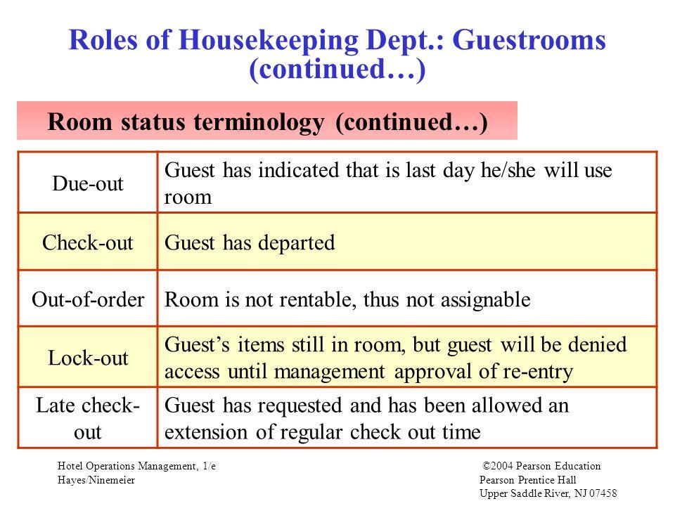 Hotel Room Status Terminology Ppt