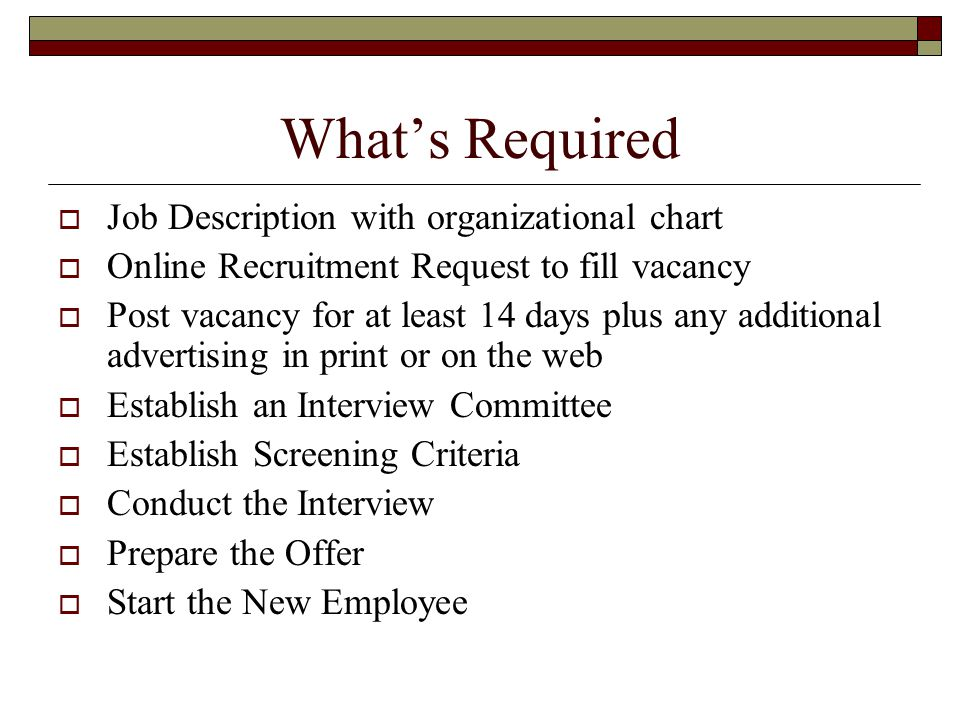Welcome to recruitment guidelines resources ppt video for New job documents required