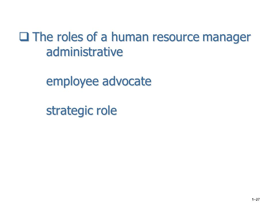 human resource management roles essay Find human resource management example essays, research papers, term  papers, case studies or speeches human resource management roles  abstract h.