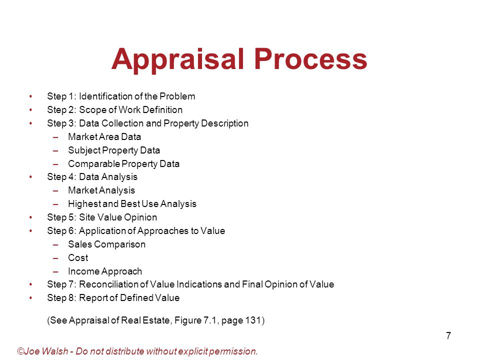 an analysis of the purpose and scope of a real estate appraisal Real estate appraisal effective date of the appraisal analysis without a strictly defined scope of work, an appraisal's conclusions may not be viable.