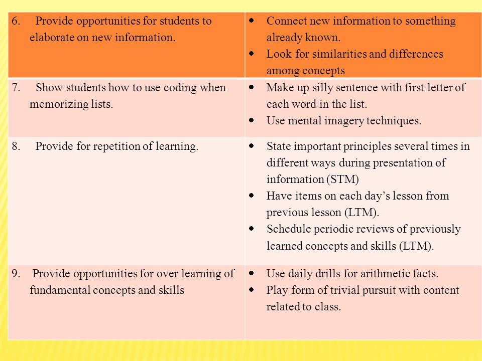 how to provide opportunities to learners The following small but powerful set of principles can make teaching both  (eg,  tests, papers, problem sets, performances) provide opportunities for students to.
