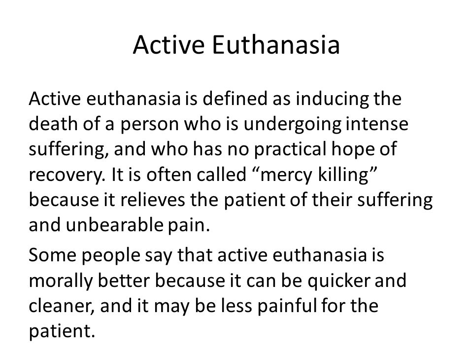 suffering and euthanasia Objective to obtain in-depth information about the views of patients and  physicians on suffering in patients who requested euthanasia in whom.