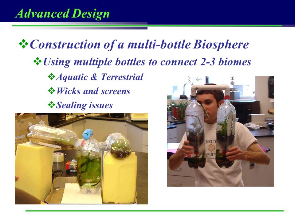Construction of a multi-bottle Biosphere