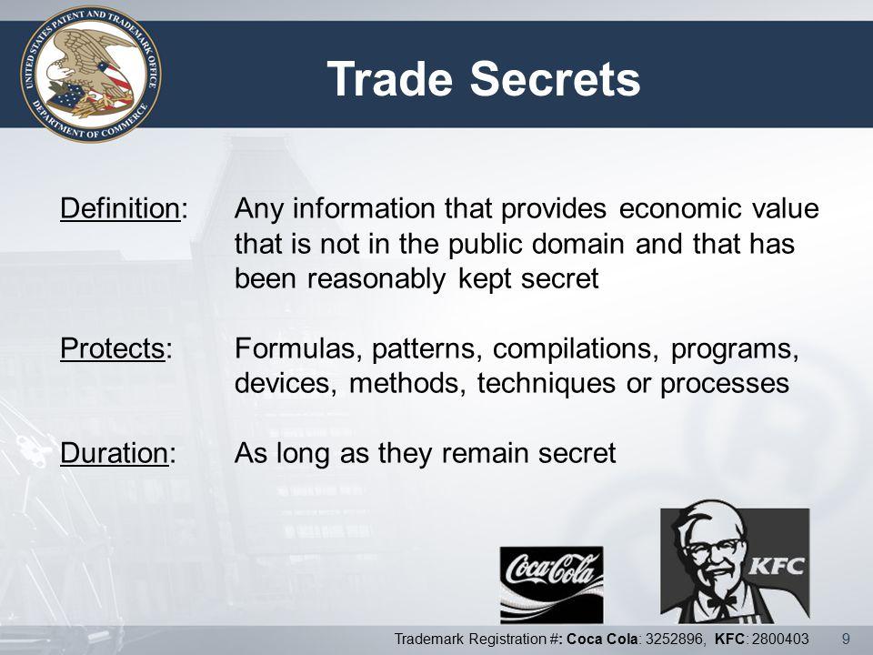 Trade Secrets Intellectual Property Definition