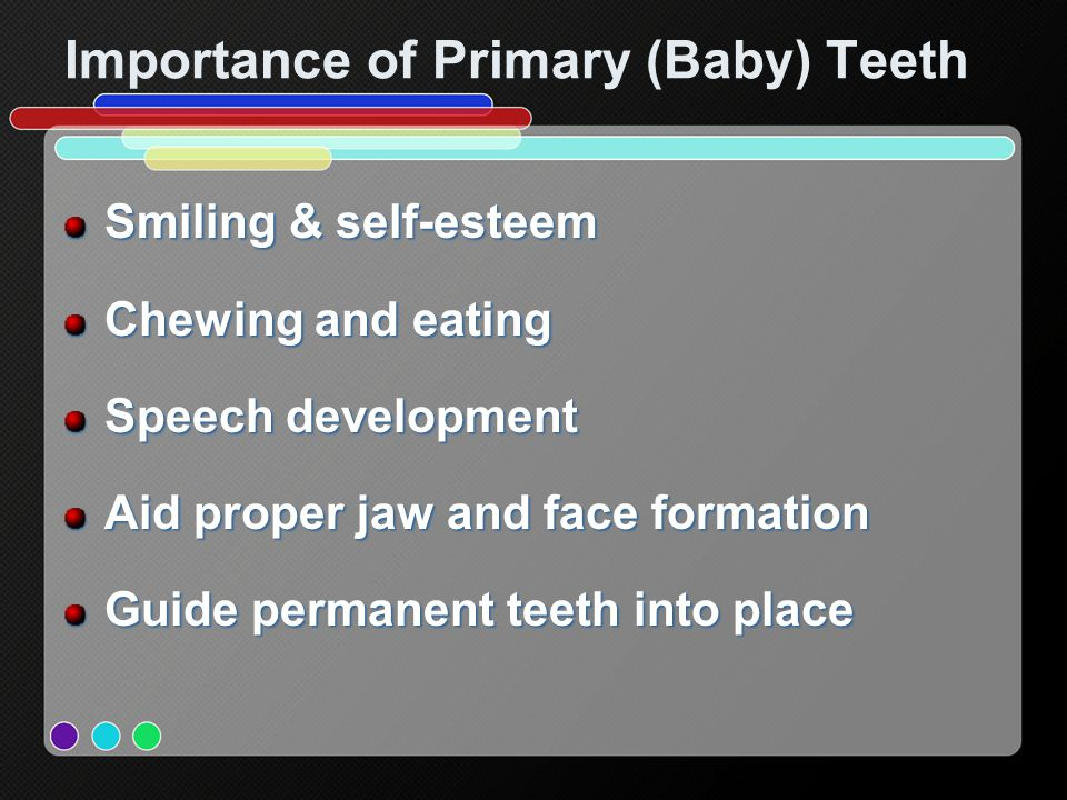 Importance of Primary (Baby) Teeth