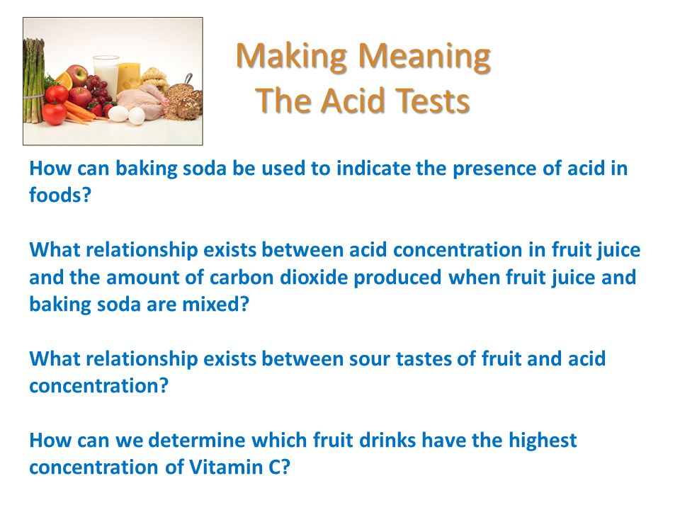 Making History With Vitamin C Powerpoint: Food And Nutrition Acid Test