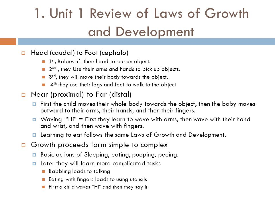 unit 18 babies development Infant development: how your baby grows and matures infancy introduction infancy physical development infancy physical development:  infancy cognitive development.