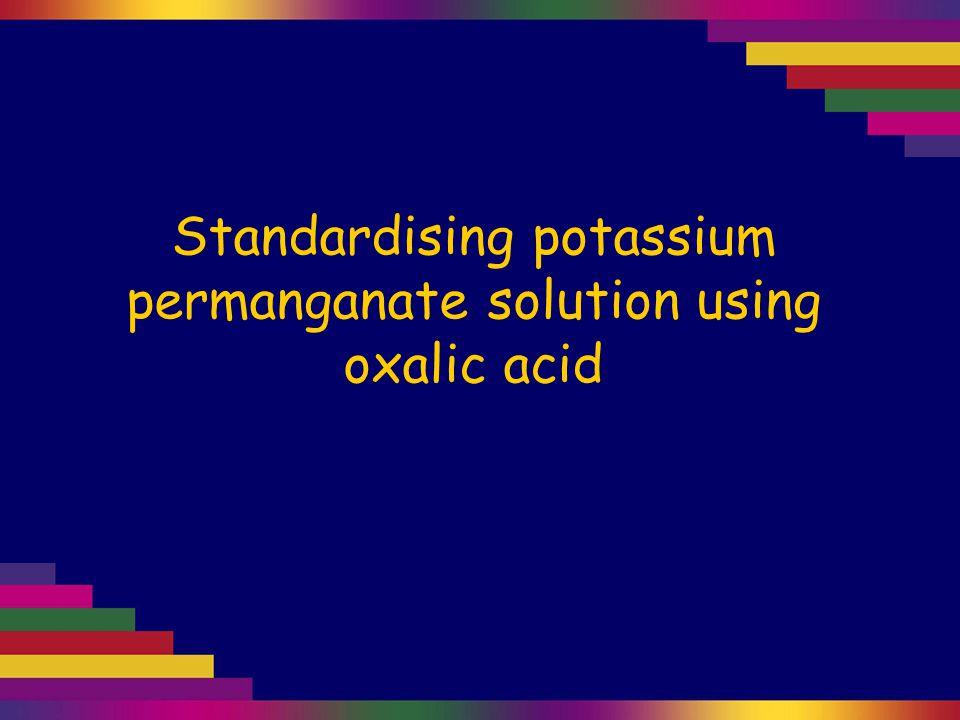 reaction of oxalic acid with potassium permanganate