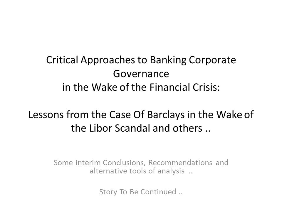 common themes in corporate governance scandals Abstract manuscript type: empirical research questions/issue: this paper seeks to explore the interrelationships between corporate governance (cg) and corporate social responsibility (csr): first, theoretically, by reviewing the literature and surveying various postulations on offer second, empirically, by investigating the conception and.