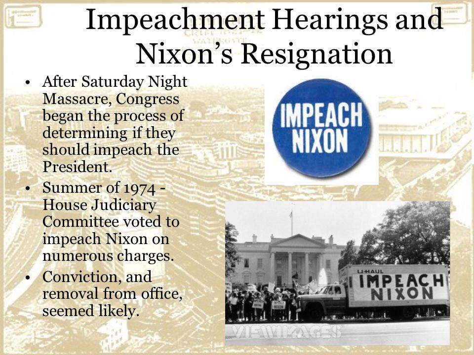 Impeachment Of Nixon President Richard Nixo...