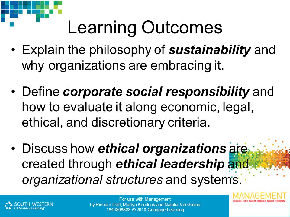 Legal and ethical leadership and management