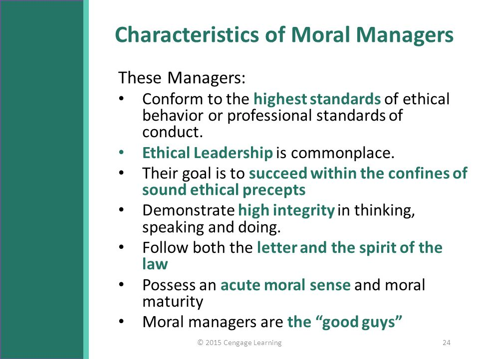 Characteristics of ethical problems in management