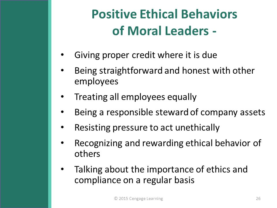 a discussion on the importance of ethical behavior for leaders The question remains, however, can the profession instill in its members the  importance of ethical conduct can ethical leaders be developed who model  ethical.