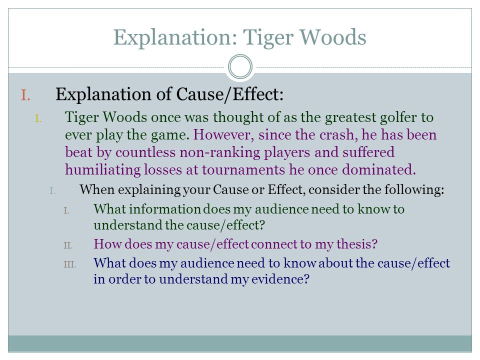 thesis statement on tiger woods