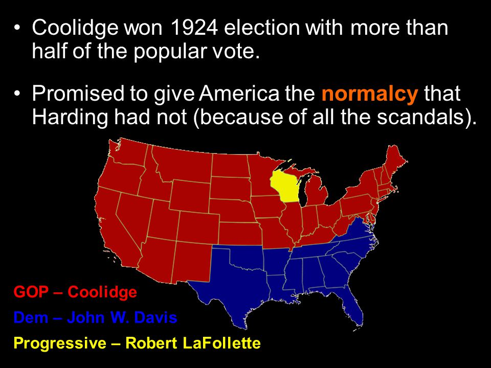the 1924 election suffrage and election Presidential election, 1920 warren g harding (republican) defeated james cox (democrat) following the ratification of the 19th amendment to the constitution, this was the first presidential election where women could vote.