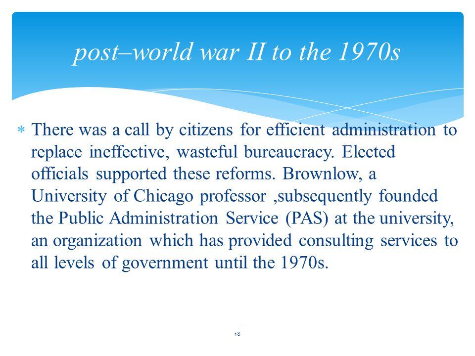 concept of bureaucracy in public administration pdf
