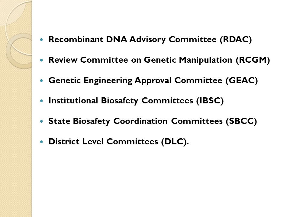 Recombinant DNA Advisory Committee (RDAC)