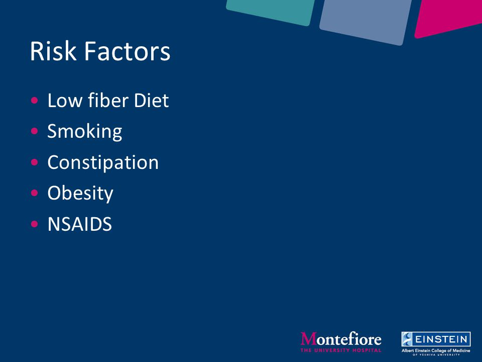 Diverticulitis causes incidence and risk factors