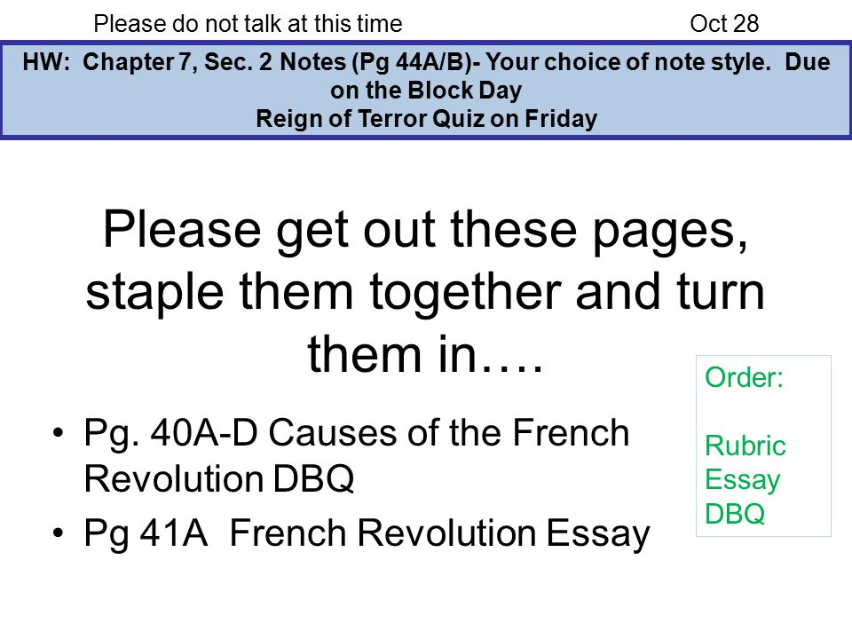 French Revolution Essay Examples