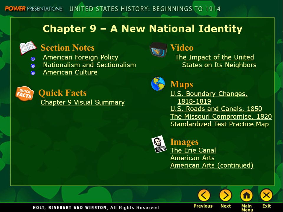 Chapter 9 – A New National Identity