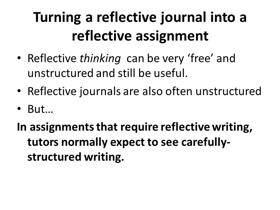 Reflective writing What is in this guide