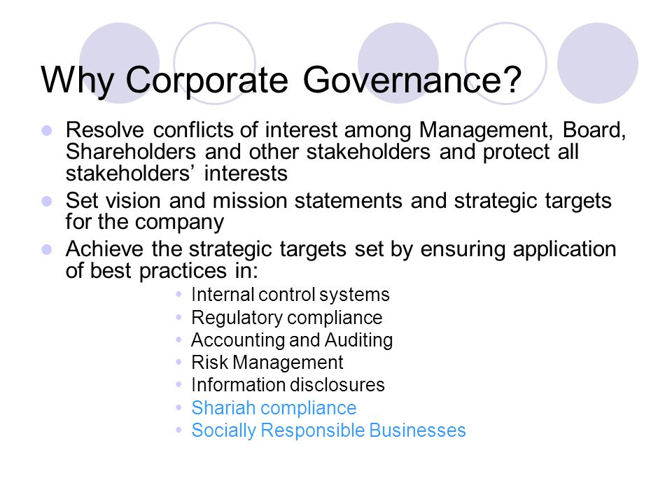 is self regulation in corporate governance achievable It says that she 'examines the conditions under which corporate self-regulation of social  to potentially achievable  not corporate governance.