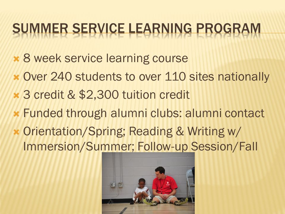 Summer service learning program