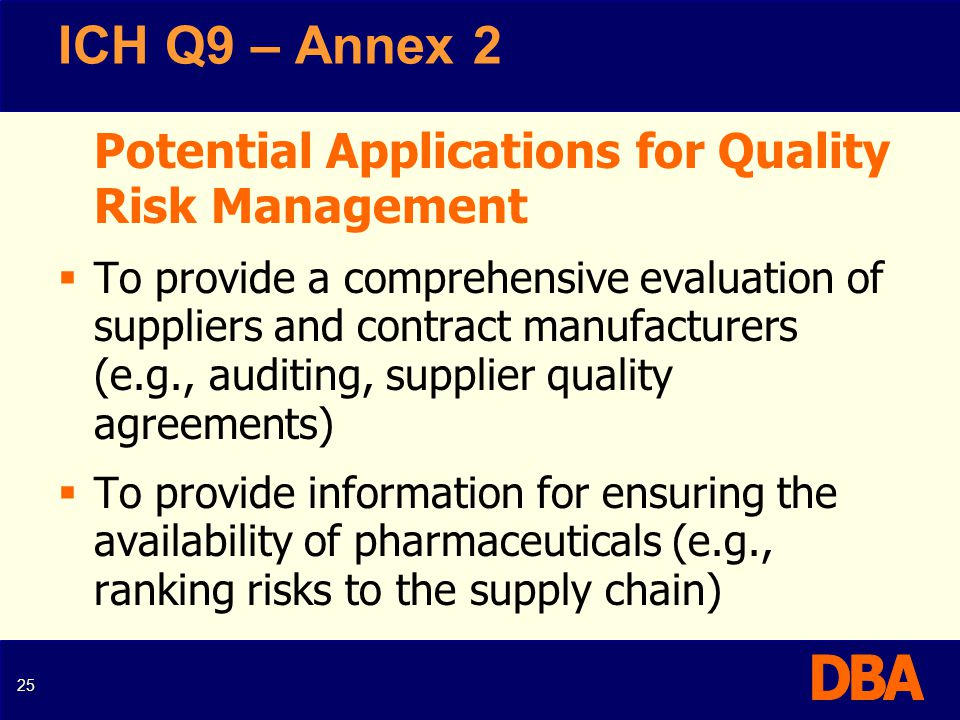The Pharmaceutical Industry And ICH Q9 Ppt Video Online