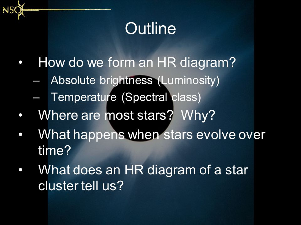Stars and the hr diagram dr matt penn national solar observatory outline how do we form an hr diagram where are most stars why ccuart
