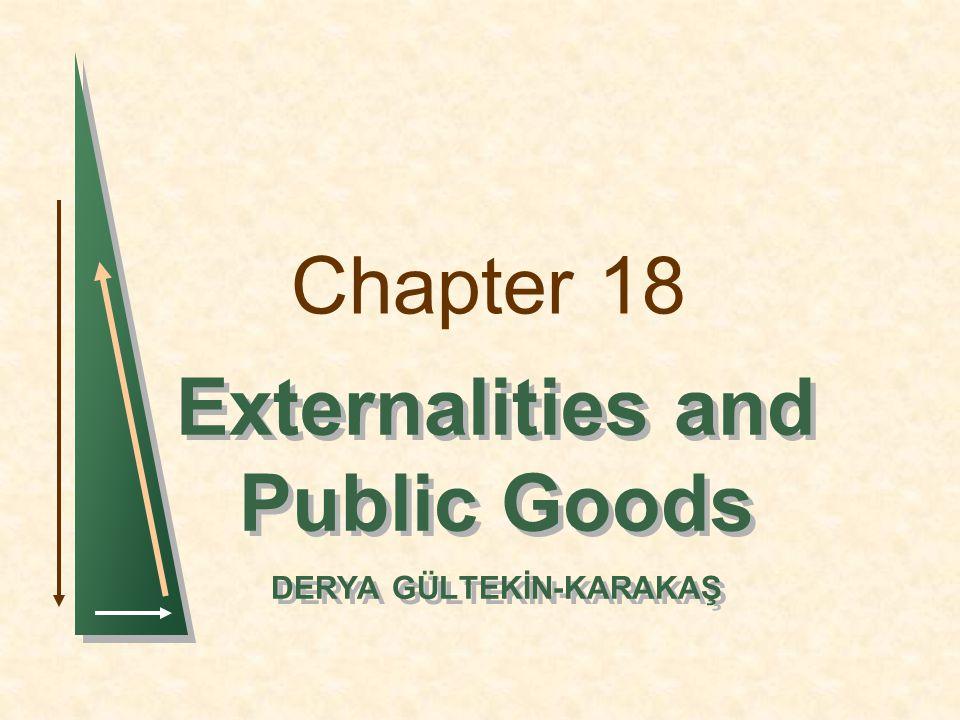 Externalities and Public Goods DERYA GÜLTEKİN-KARAKAŞ