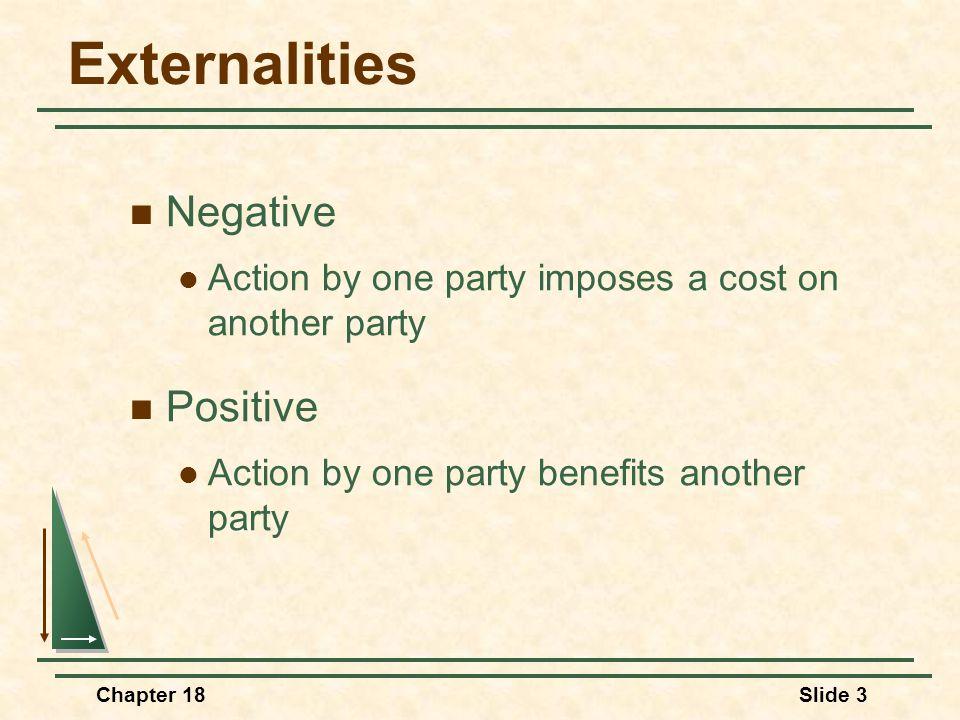 Externalities Negative Positive