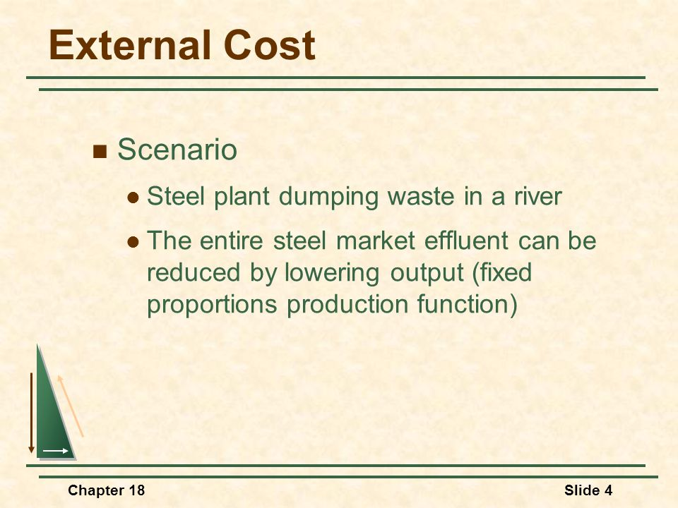 External Cost Scenario Steel plant dumping waste in a river