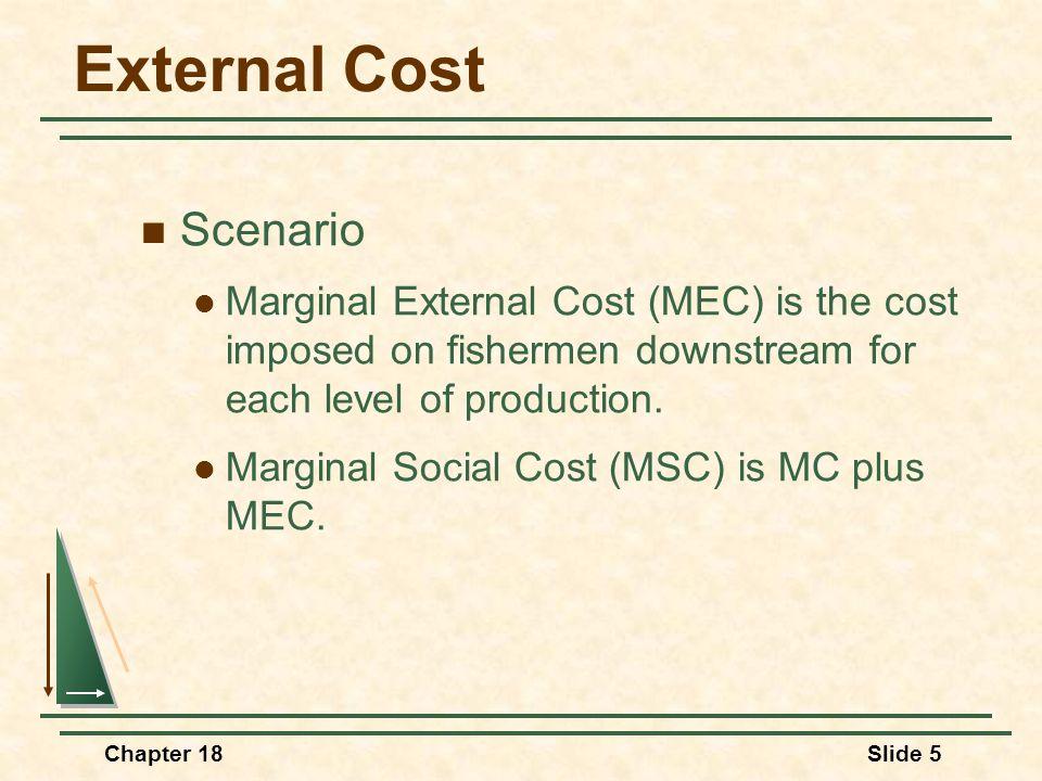 External Cost Scenario