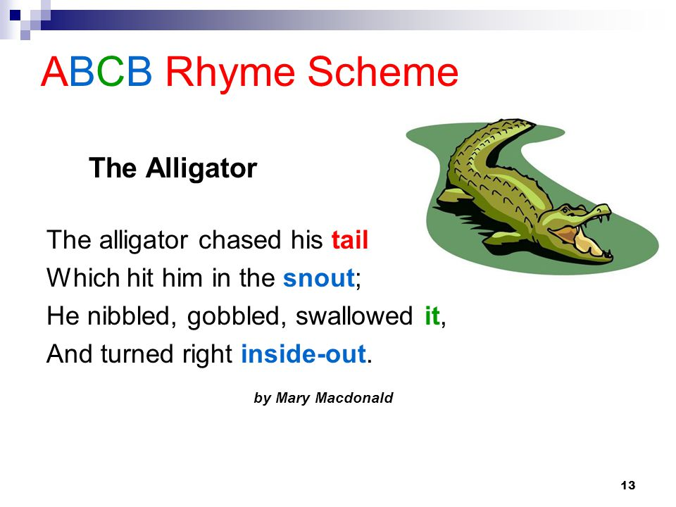Examples Of Poems With Abcb Rhyme Scheme - Sao Mai Center