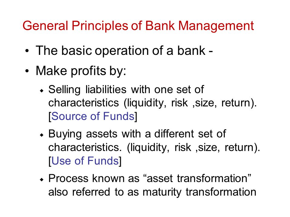 Principles of banking management