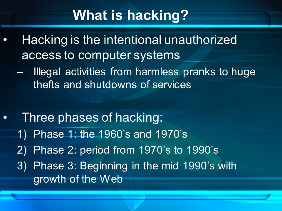 a look at the history of hacking and the problems it has caused on the web Stuxnet and the triumph of hacker program—an oppenheimer moment in the history of hacking what has been called a look-at-me hacker.