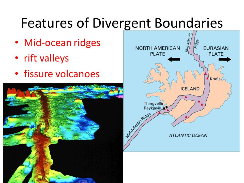 Features of Divergent Boundaries