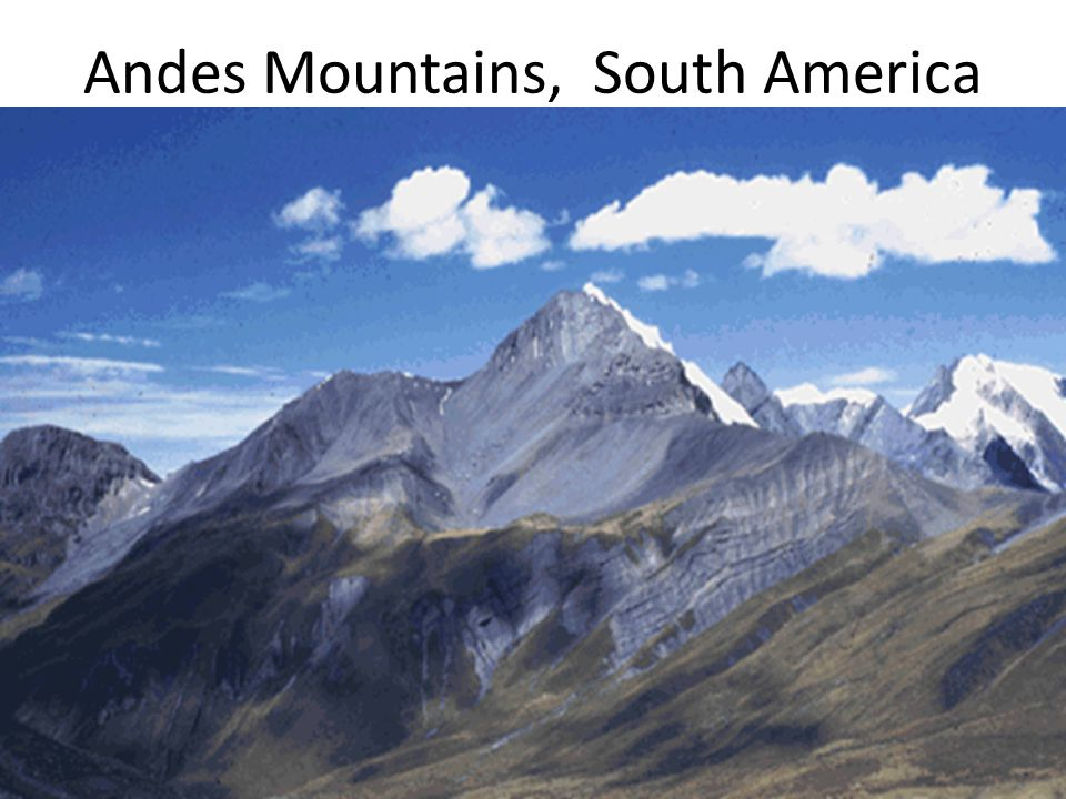 Andes Mountains, South America