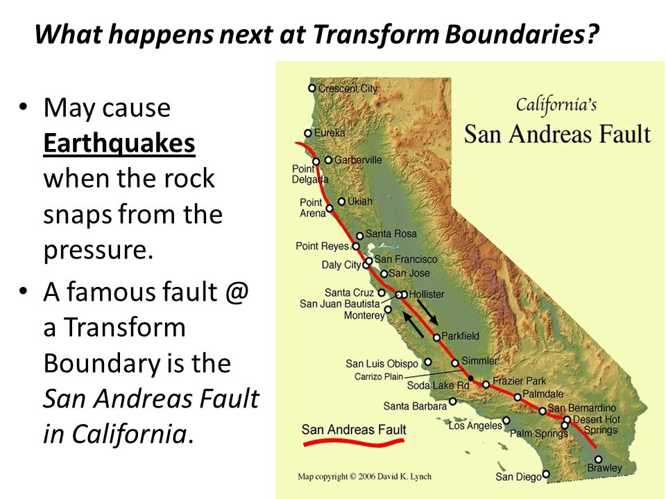 What happens next at Transform Boundaries